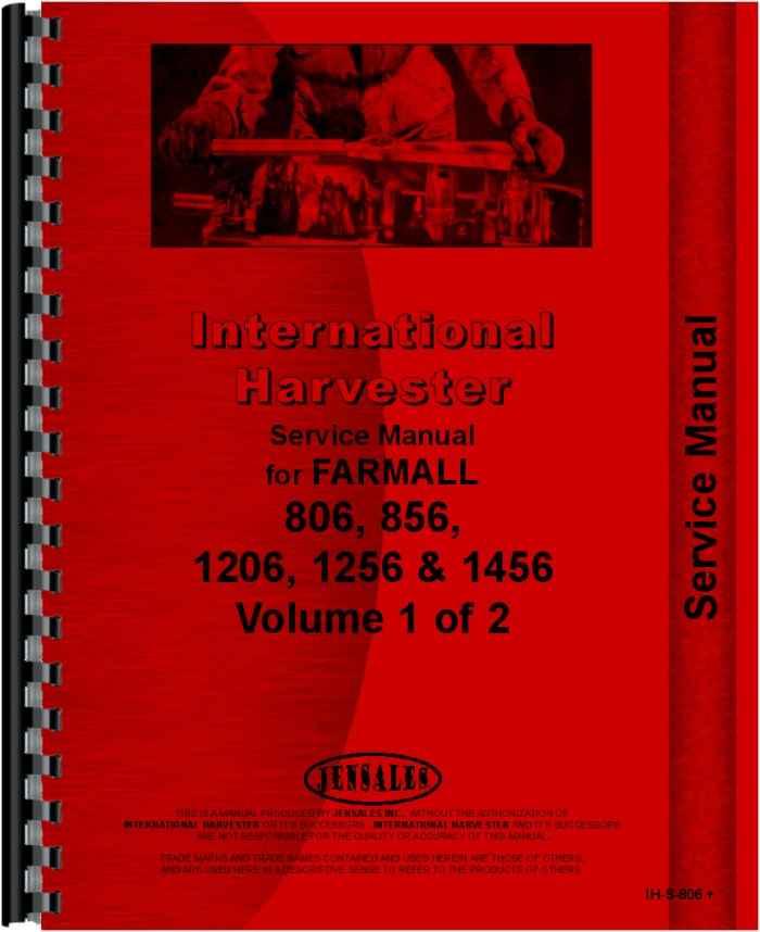 farmall 806 tractor service manual rh agkits com Farmall 1206 Farmall 460