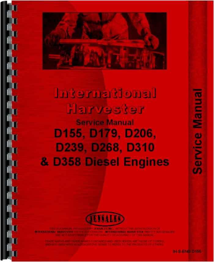 International Harvester 826 Tractor Engine Service Manual