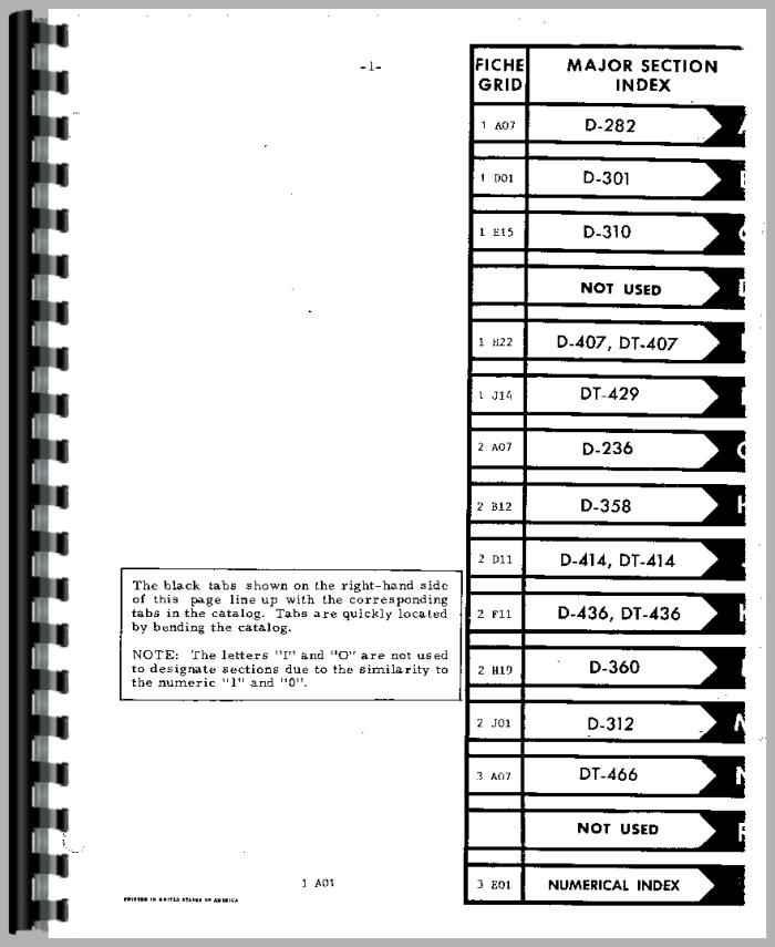 international harvester 986 tractor engine parts manual