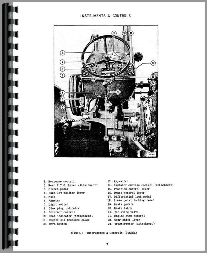 International Harvester B-275 Tractor Operators Manual on