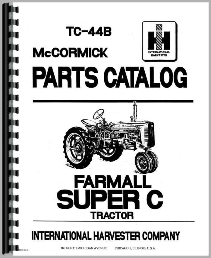 34 Farmall Super C Parts Diagram