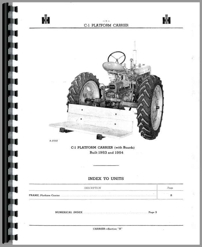 farmall fast hitch parts