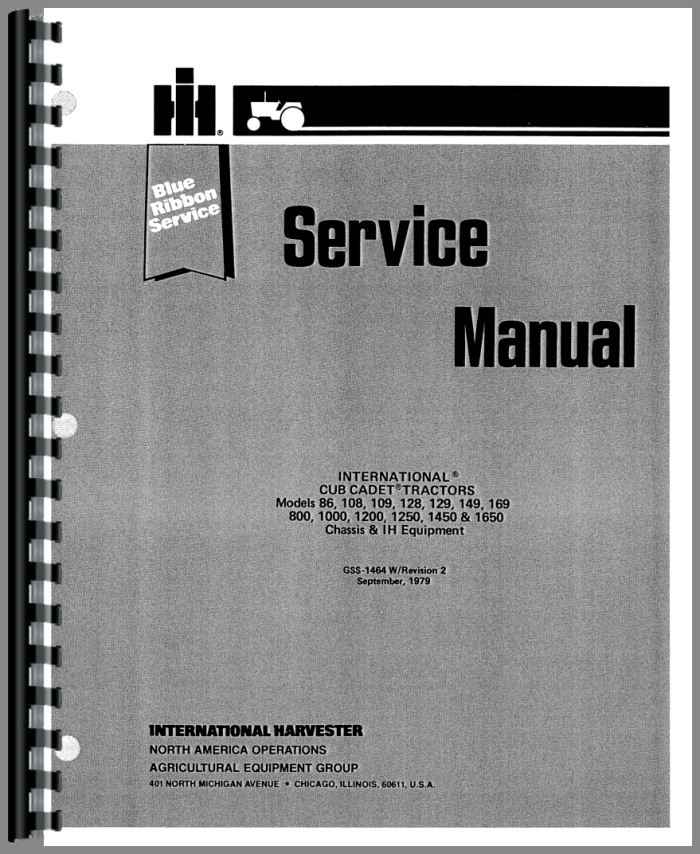 international harvester cub cadet 129 lawn garden tractor service rh agkits com cub cadet 129 parts manual cub cadet 149 manuals free download