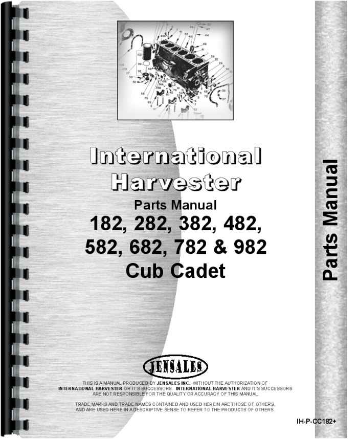 International Harvester Part Numbers : International harvester cub cadet lawn garden