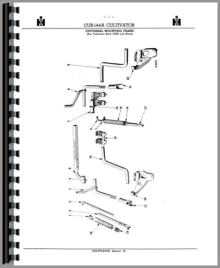 Farmall Cub Lo Boy Tractor Fast Hitch Attachments Parts Manual