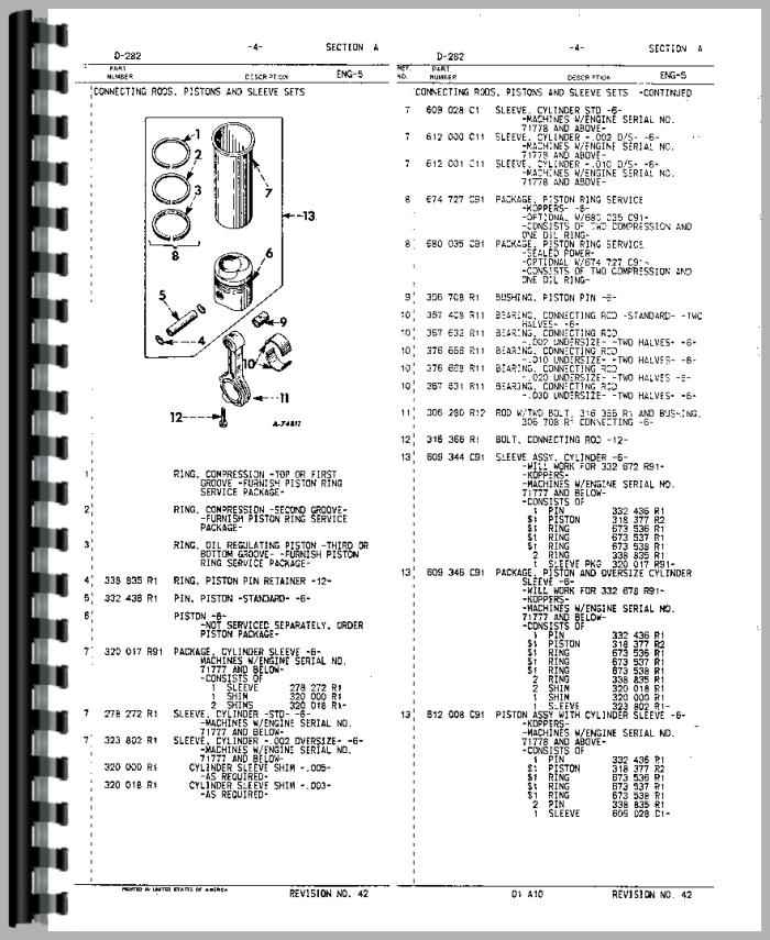 International Harvester DT466 Engine Parts Manual