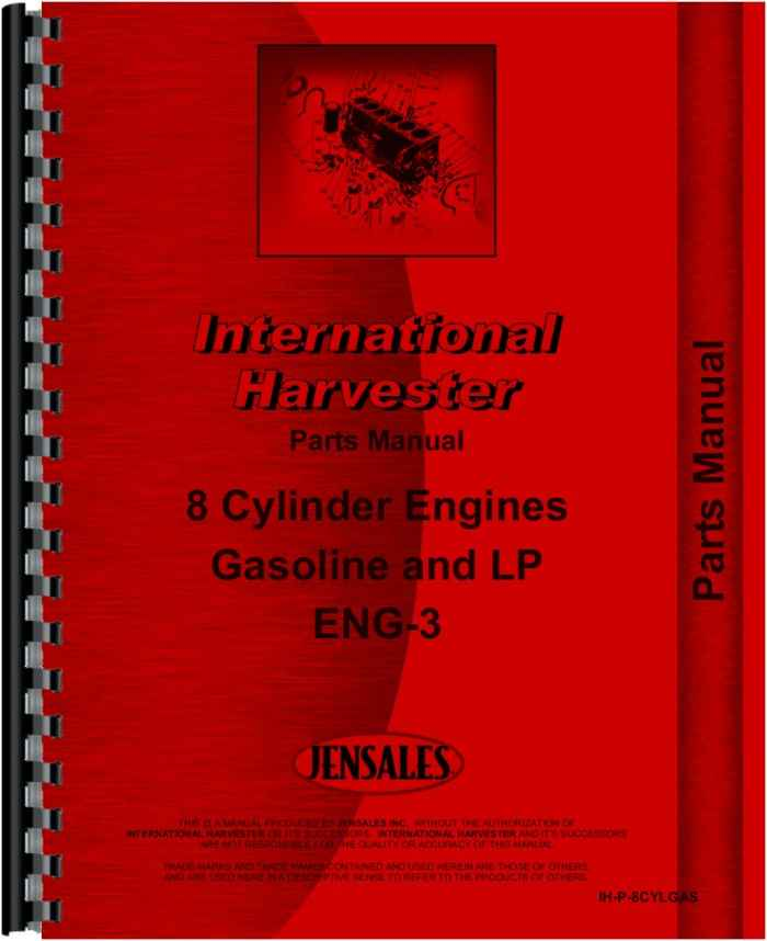 International Harvester Part Numbers : International harvester cylinder gas engine parts manual