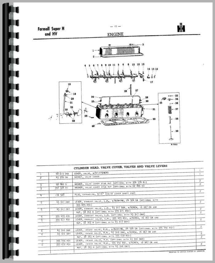 Farmall H Parts Manual