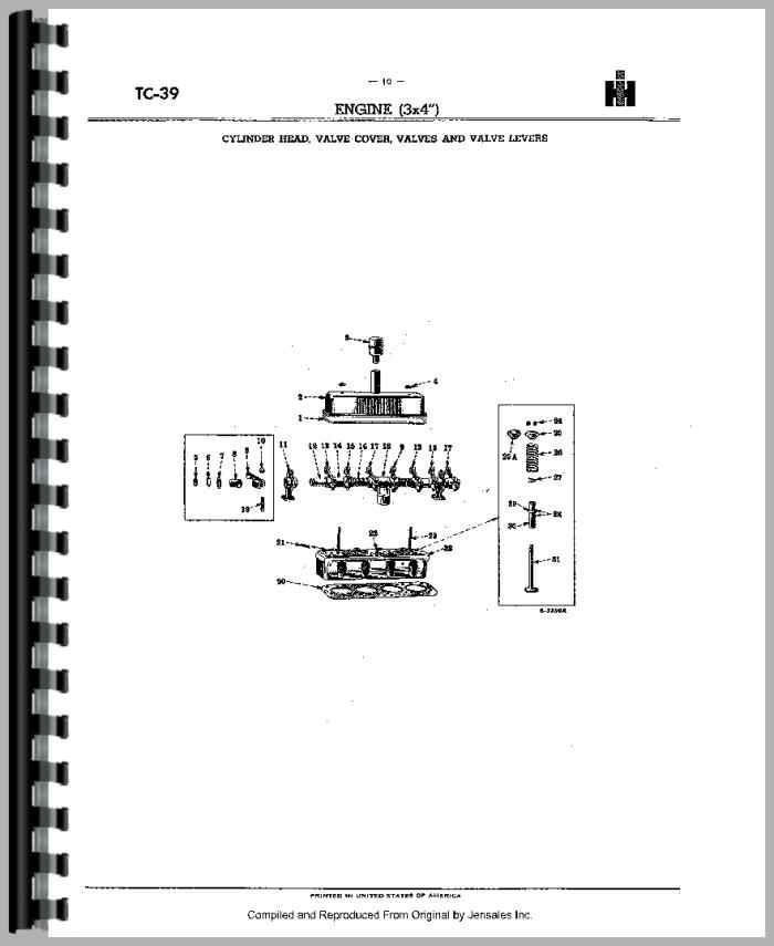 Farmall Super A Culti Vision Tractor Parts Manual