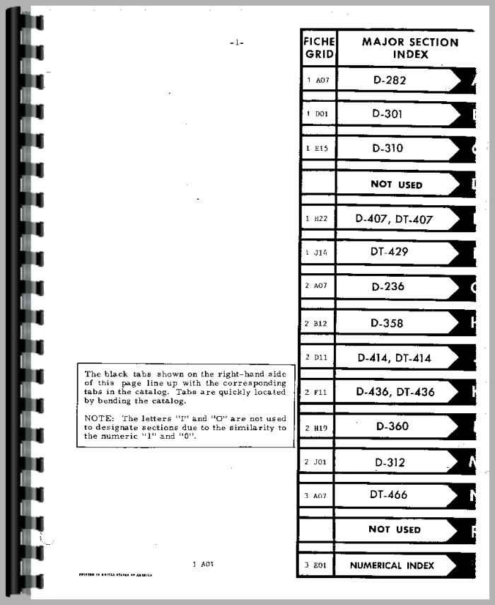 international harvester td15c crawler engine parts manual