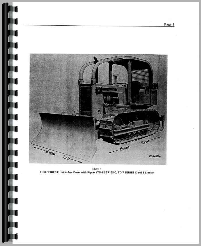 Tractors International Harvester TD7E Crawler Engine Service ...