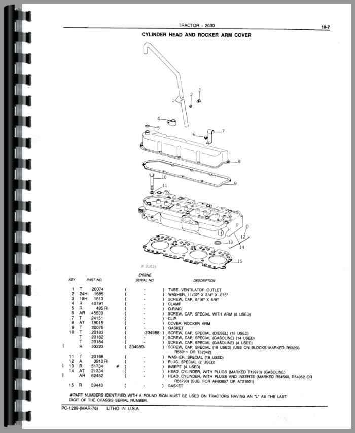 John Deere 1830 Tractor Parts Manual Htjd Ppc1289