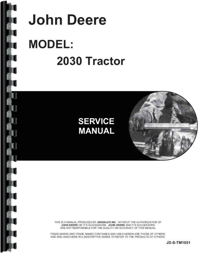 john deere 2030 tractor service manual daily instruction manual