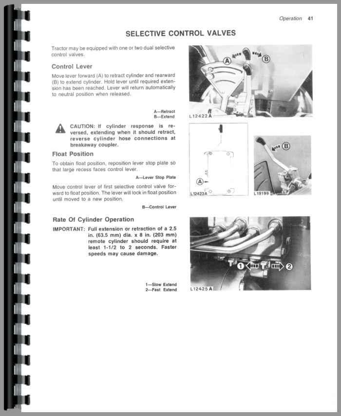john deere 1070 operators manual