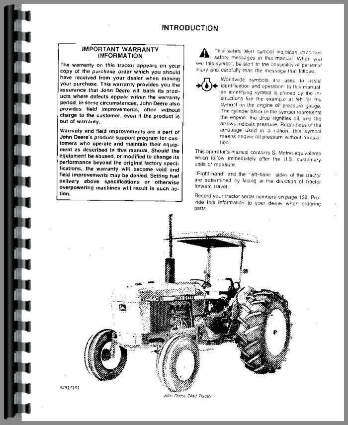JohnDeere 2440 Tractor Manual_93199_2__08933 john deere 2440 tractor operators manual