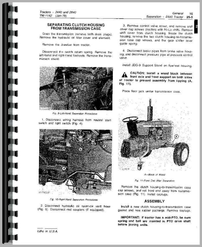 John Deere 2440 Tractor Service Manual – John Deere 2440 Tractor Wiring
