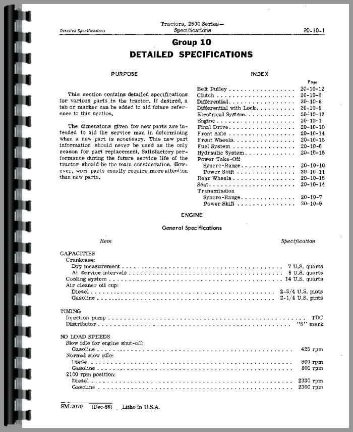 john deere 2510 tractor service manual tractor manual