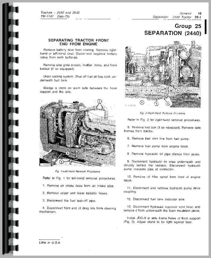 john deere 2640 tractor service manual rh agkits com Kohler Ignition Wiring Diagram Painless Wiring Diagrams