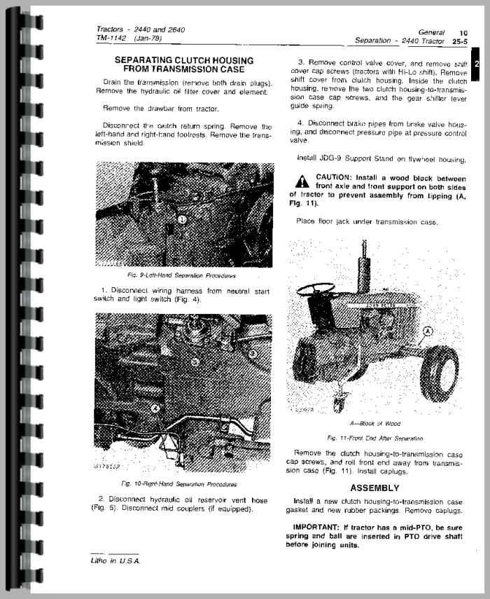 john deere 2640 tractor service manual rh agkits com Painless Wiring Diagrams Jk Trailer Wiring Harness