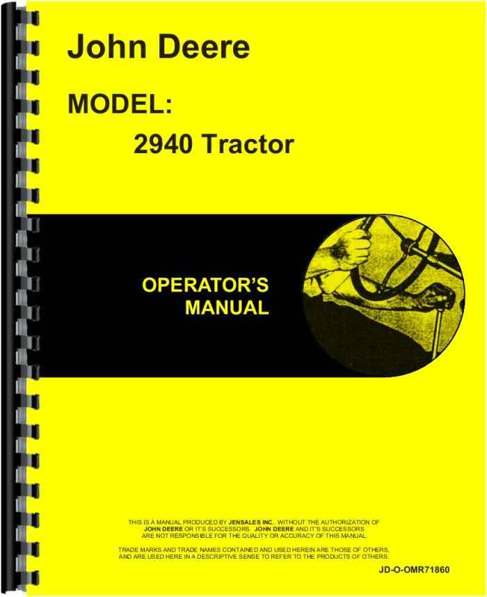 John Deere 2940 Tractor Operators Manual Manual Guide
