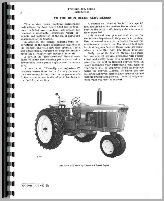 John Deere 3020 Service Manual