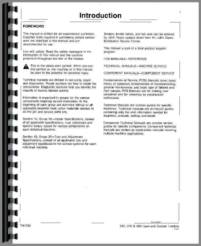 john deere 316 lawn garden tractor service manual rh agkits com john deere 316 manual free john deere 316 manuals free downloads