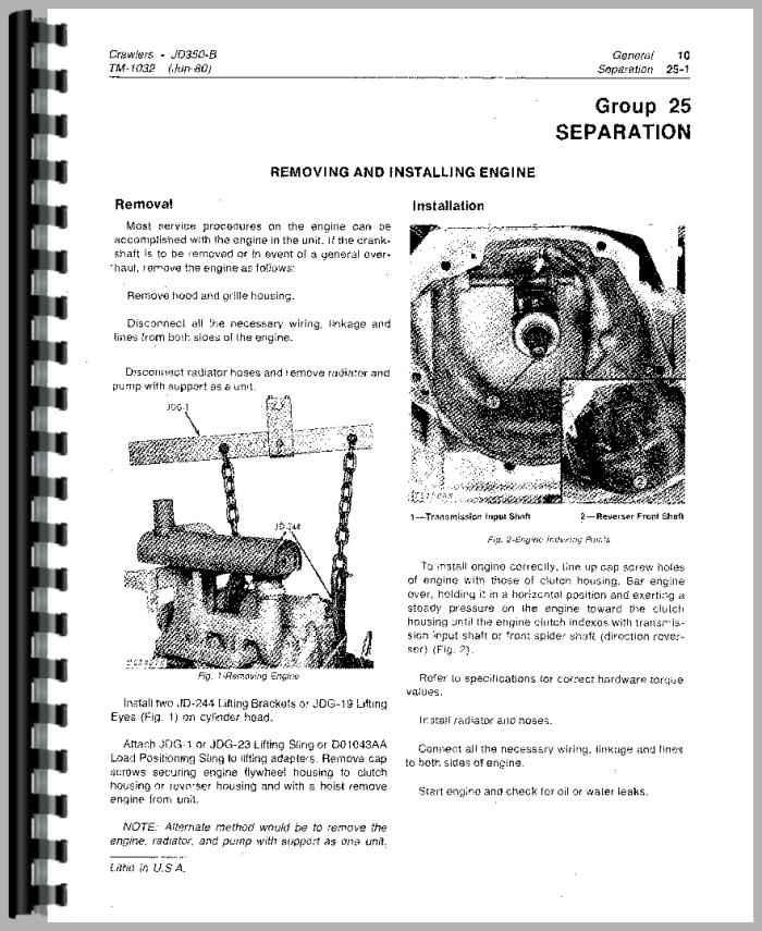 john deere 350b crawler service manual