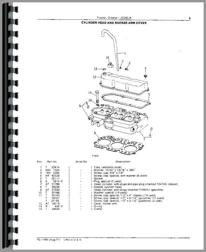 John Deere 350B Crawler Parts Manual (HTJD-PPC1169)