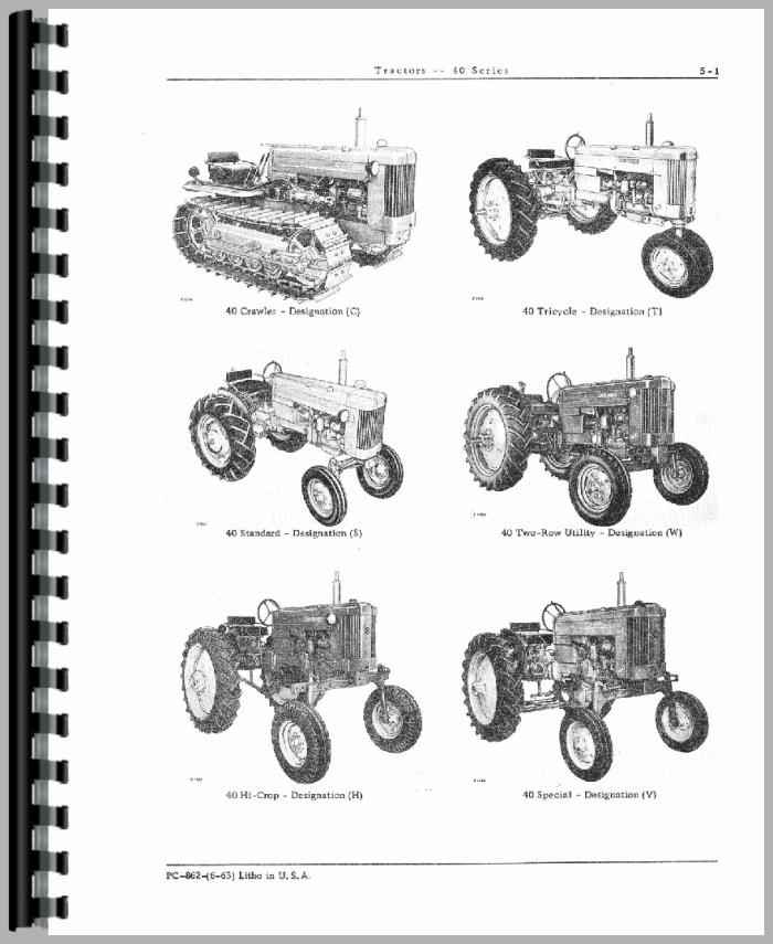 John Deere 40 Parts : John deere tractor parts manual