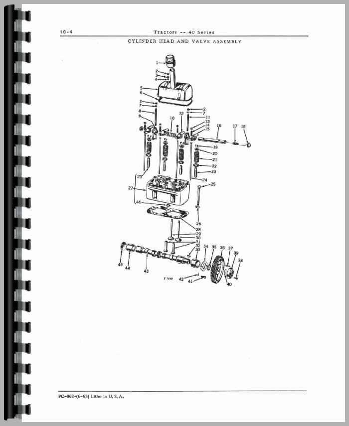 john deere 40v tractor parts manual