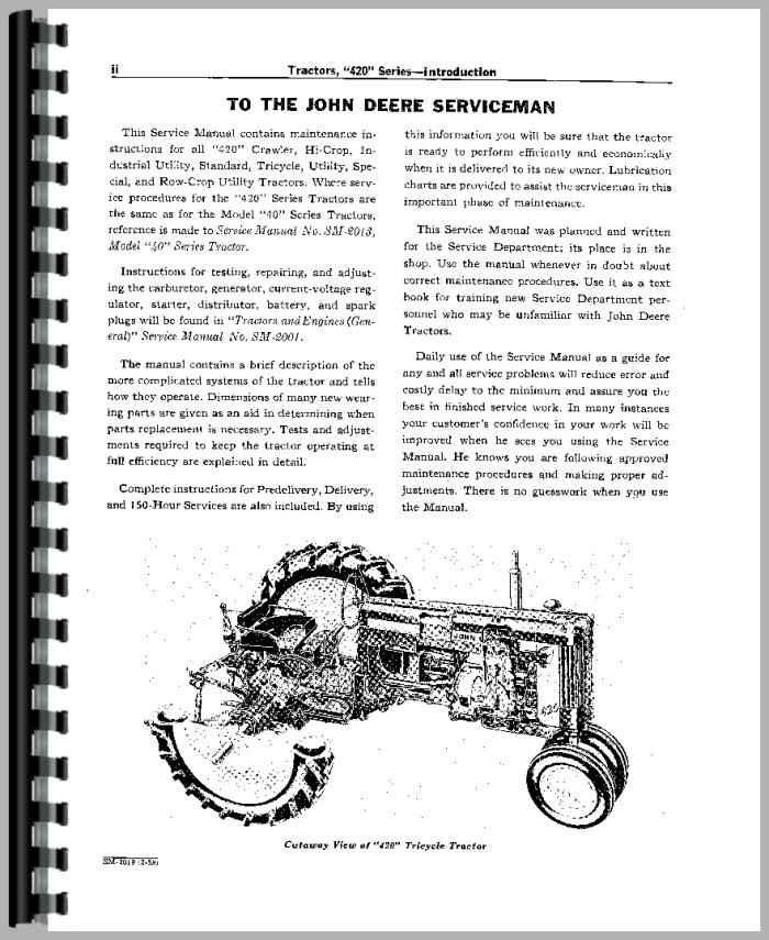 John Deere Tractor Service Manuals : John deere tractor service manual