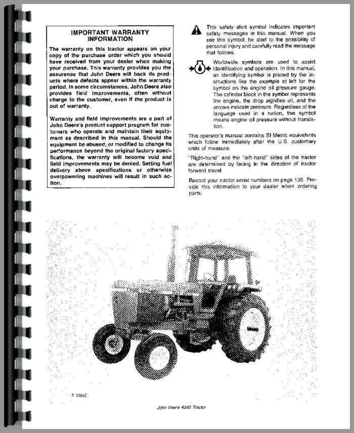 john deere  tractor operators manual