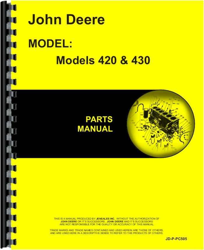 John Deere 430 Tractor Parts Manual Manual Guide