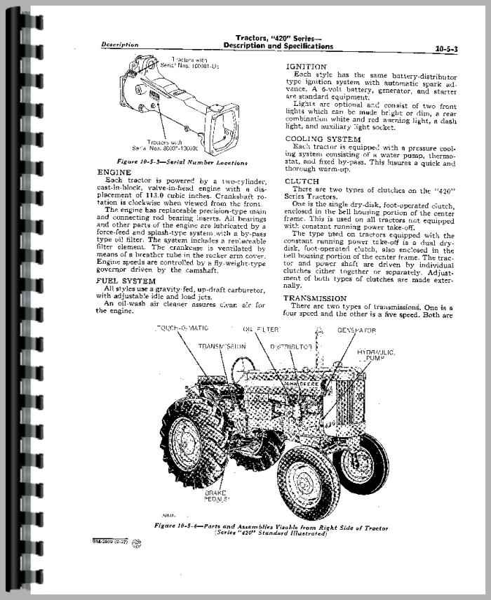 OU12401 0010418 19 01JAN03 1 as well Allis Chalmers 180 Wiring Diagram further Kawasaki Vulcan Vn750 Electrical System And Wiring Diagram additionally Used John Deere Van Brunt Model B Grain Drill Factory Operators Manual Jd Om Mi 947 in addition Front Axle Hub Seal 2wd 1. on john deere tractor filters