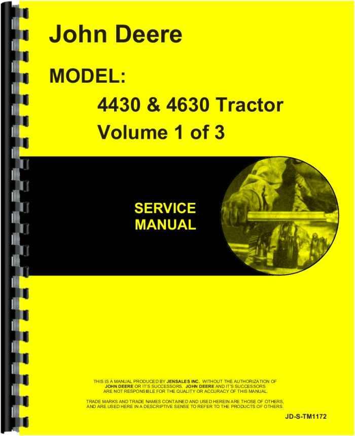 John Deere 4430 Tractor Service Manual