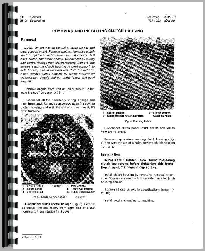 John Deere 450b Crawler Service Manual