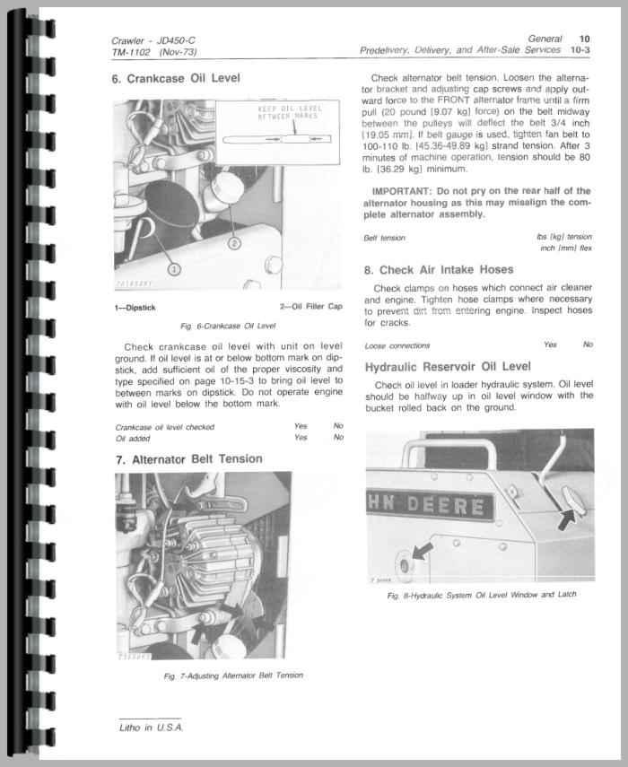 john deere 450 lc service manual