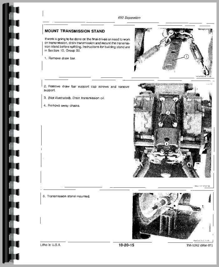 John Deere 650 Tractor Service Manual Manual Guide