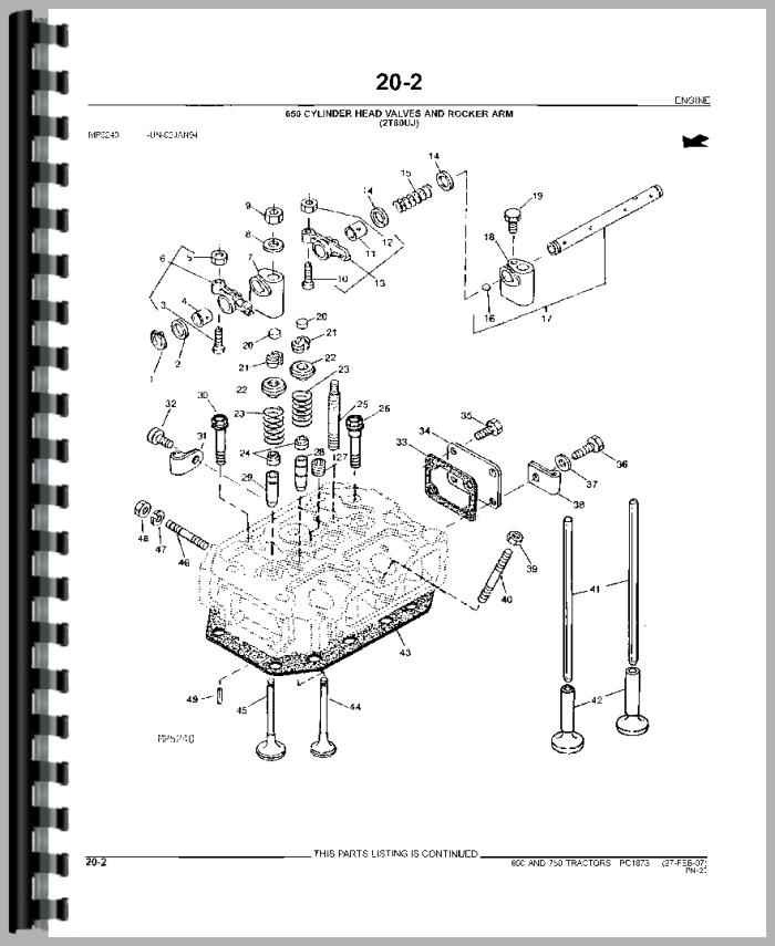 John Deere 750 Tractor Parts Manual HTJD PPC1873