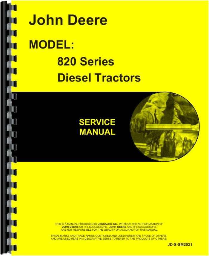 john deere tractor service manual john deere 820 tractor service manual htjd ssm2021