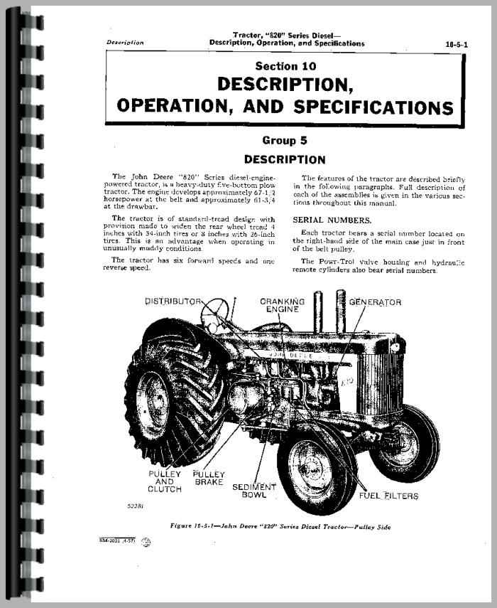 john deere 820 tractor service manual. Black Bedroom Furniture Sets. Home Design Ideas