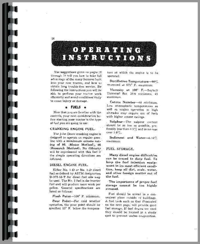 john deere tractor operators manual tractor manual