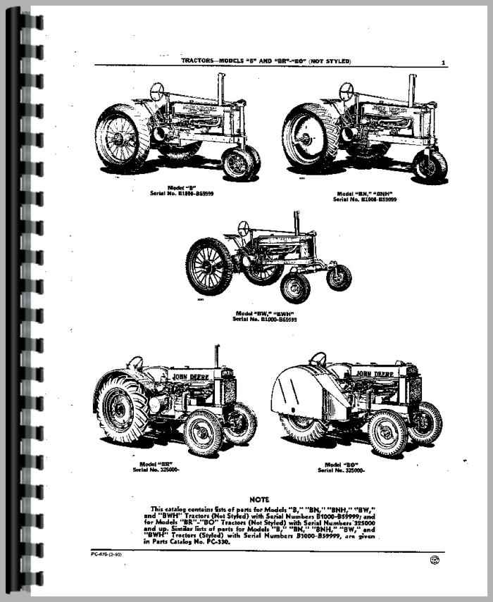 John Deere B Parts Diagram