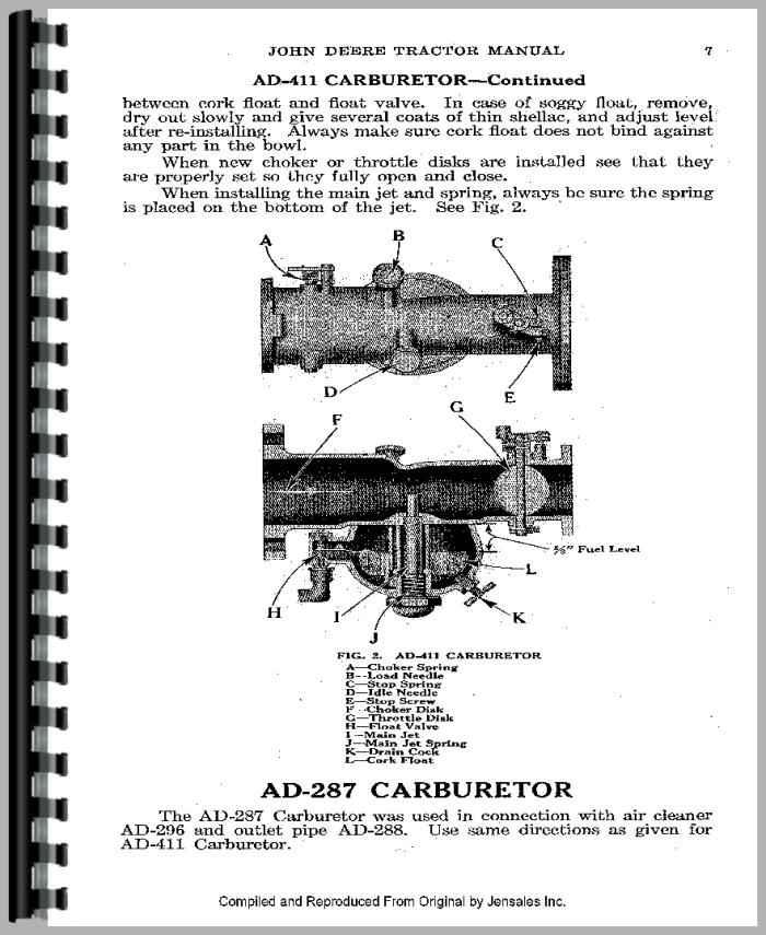 John Deere Tractor Service Manuals : John deere d tractor service manual