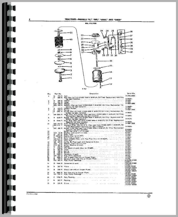 John Deere Hw Tractor Parts Manual Htjd Ppc304