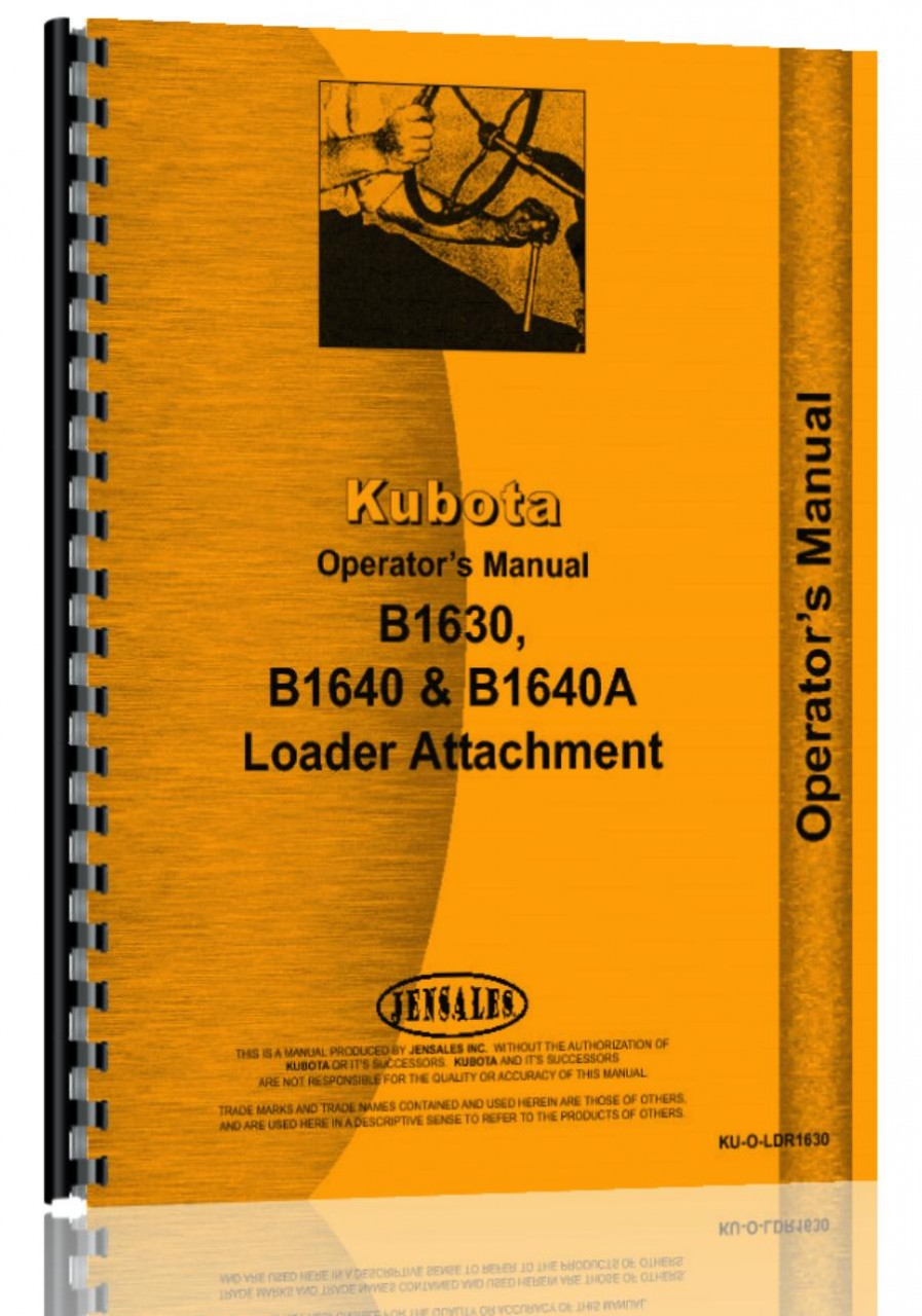 kubota b1640 loader attachment for b1750 tractor operators manual rh agkits com kubota b1750 service manual pdf kubota b1750 hst owners manual
