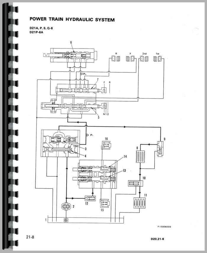 komatsu d21p 6a crawler service manual tractor manual
