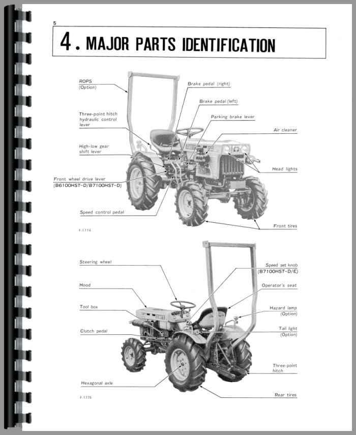 Kubota Rtv900 Parts Diagram Shifter : Kubota b hst d tractor operators manual