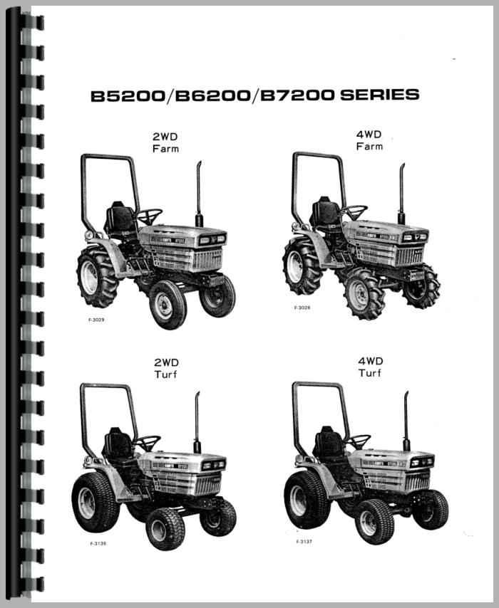 kubota b7200d tractor operators manual