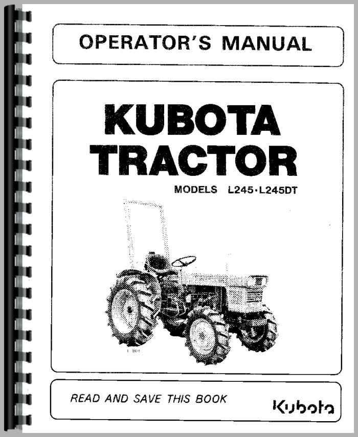 kubota l245 tractor operators manual rh agkits com manual for kubota tractor series 02 repair manual for kubota tractor
